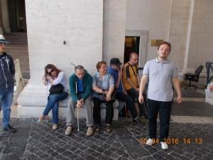 La intrare in basilica san piedro